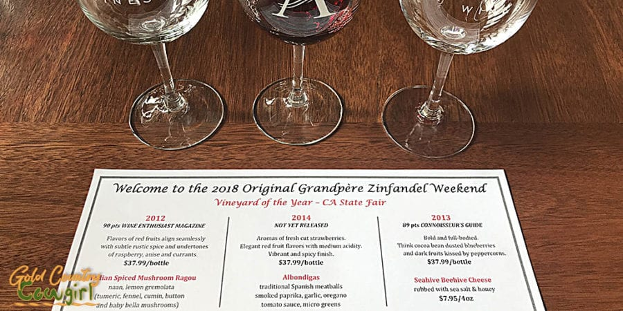 OGP Zinfandel Weekend, Shenandoah Valley, Plymouth, CA - tasting notes at Andis Wines
