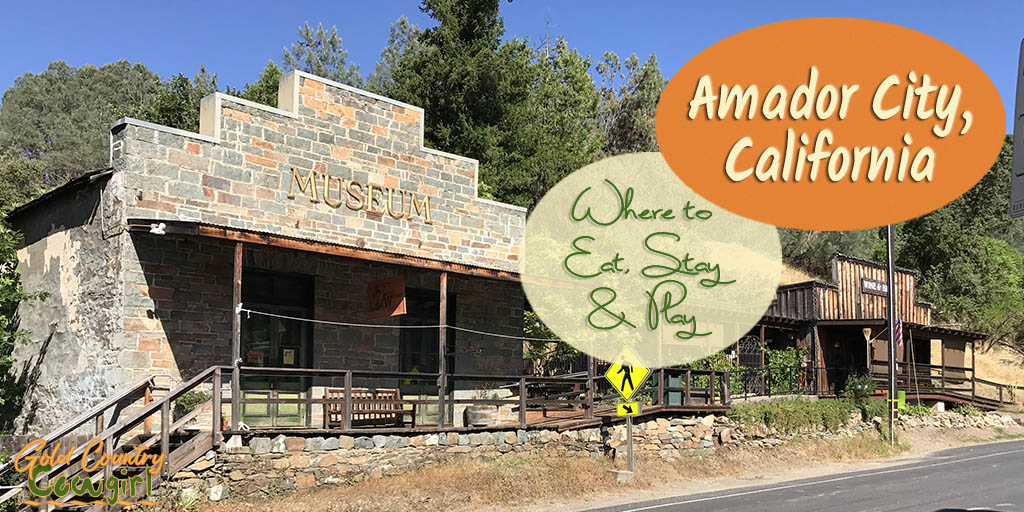 Although Amador City is the smallest incorporated city in California, covering less than a square mile, it has lots to offer. It has a hotel and four great places to eat. Main Street is also dotted with unique shops, a wine tasting room or two and a museum.