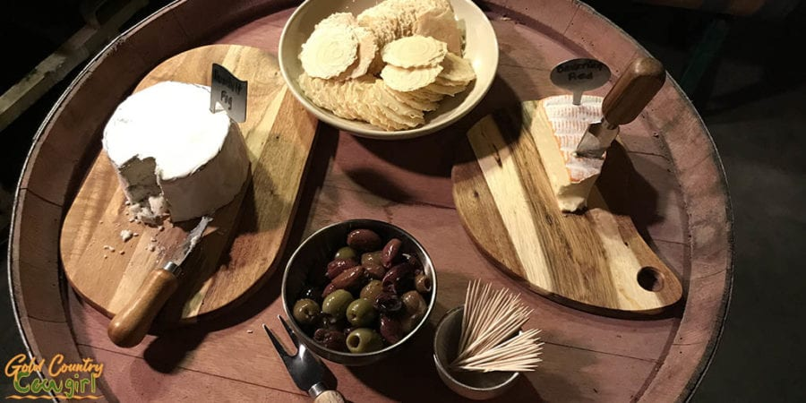 Cheese and olive pairing at 24 Brix - wine events