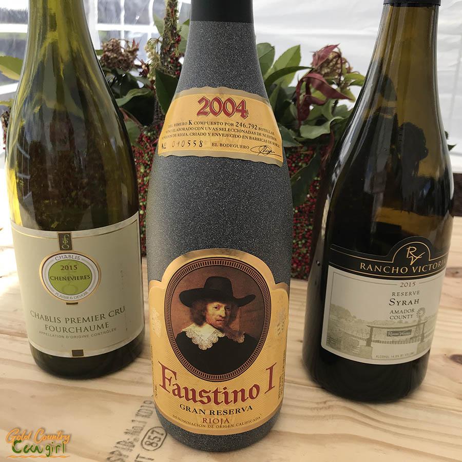 The three wines we blind taste tested - wine events