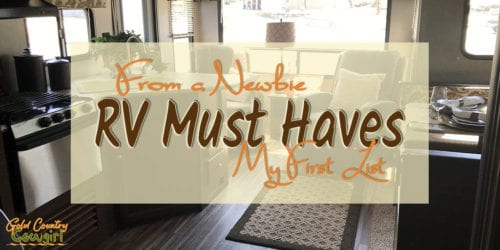 RV Must Haves - Although space is pretty limited in any RV including my travel trailer, there are a few things that I am putting on my RV must haves list.