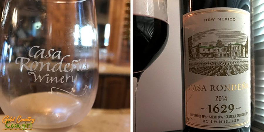 Casa Rondeña Winery glass and 1629 wine