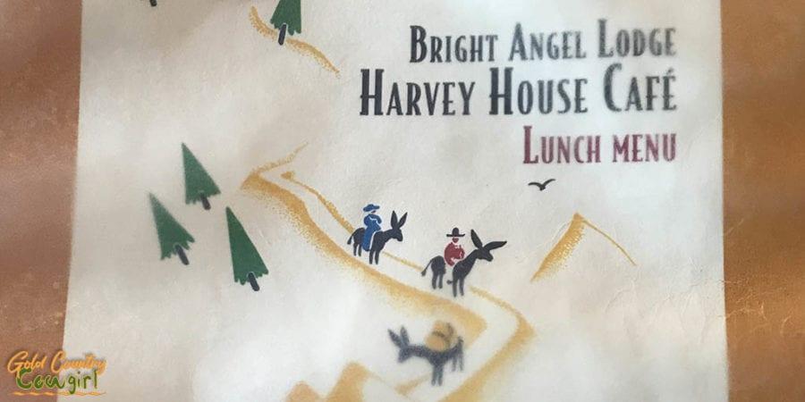 Harvey House Cafe menu cover