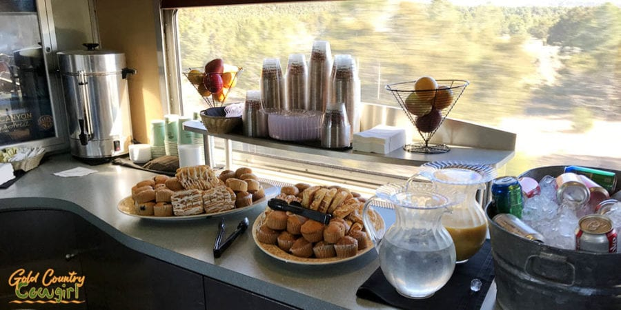morning buffet on the Grand Canyon Railway