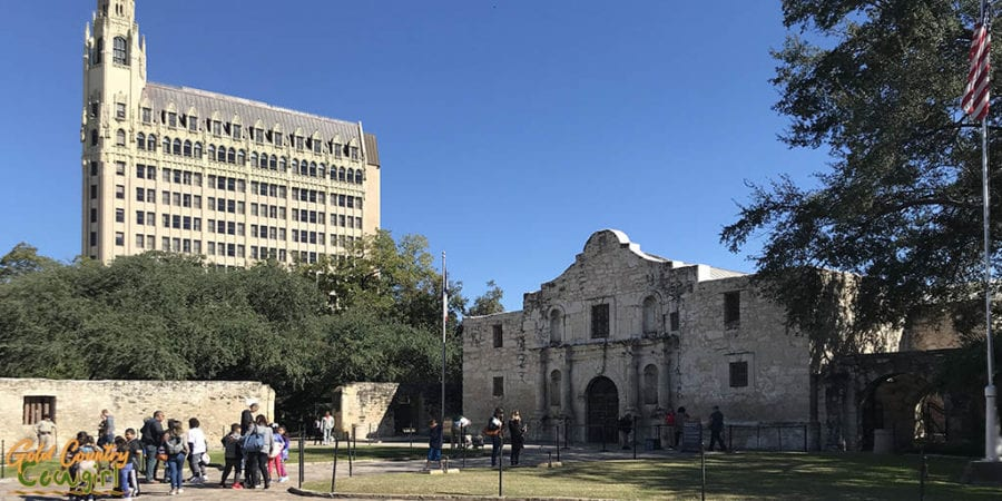 The Alamo exterior - a must add to a Caifornis to Texas RV itinerary