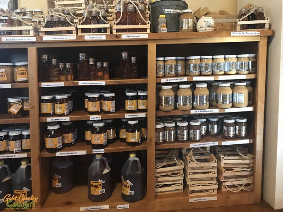 Honey and peanut butter with honey at Walker Honey Farm