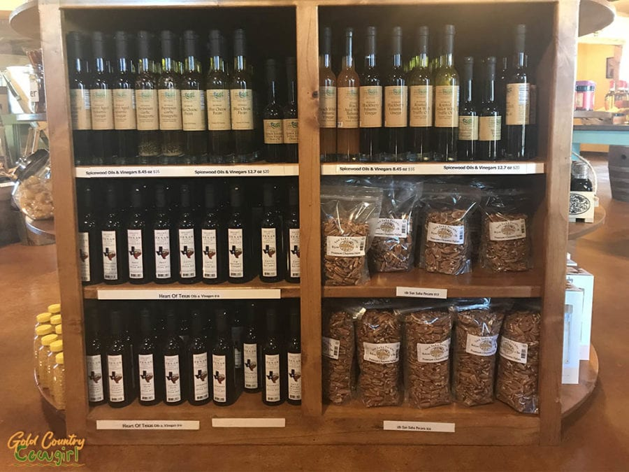 Oils and vinegars at Walker Honey Farm