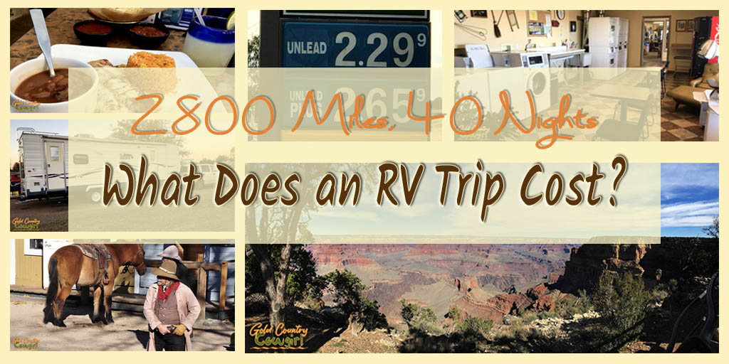 The cost of an RV trip is different for everyone, but I thought you might be interested in learning what my 2800 mile, 40 day RV trip cost.