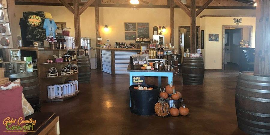 Interior of Walker Honey Farm store