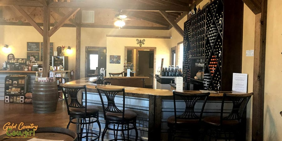 Tasting bar for Dancing Bee Winery