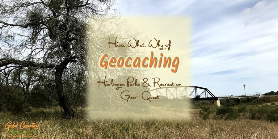 Geocaching is an outdoor treasure hunting game. Geocaching with Harlingen Parks and Recreation's Geo-Quest will help you discover more than 1200 acres of public land in Harlingen, TX. #geocaching #outdoors #hiking #travel #harlingen #TX