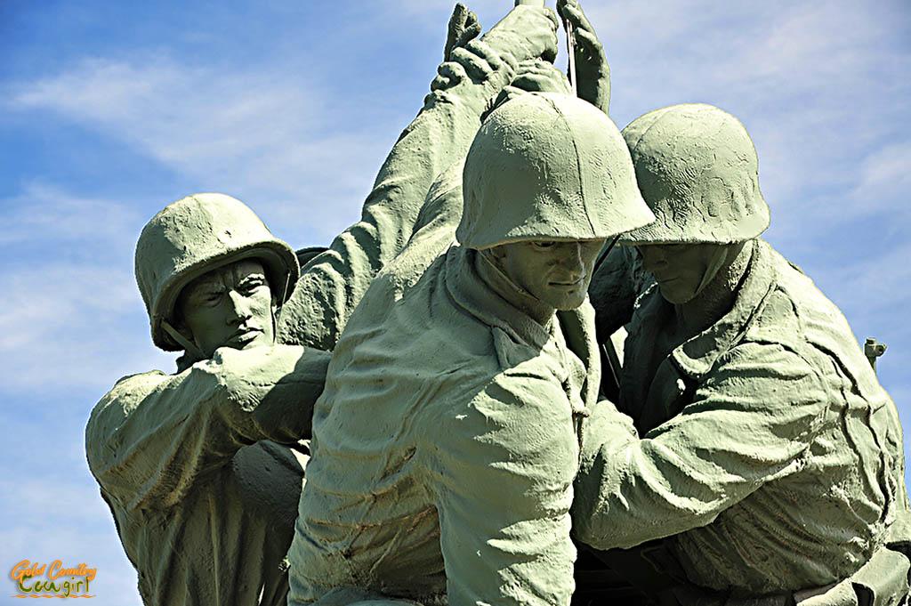 Iwo Jima Monument CU Harlon Block