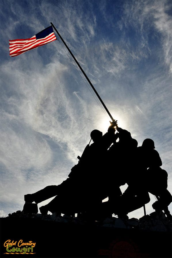 Iwo Jima Monument silhouette