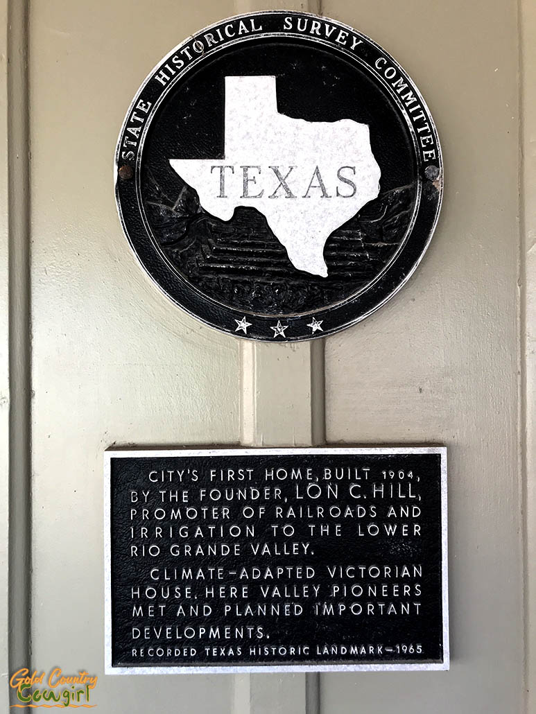 Lon C. Hill house plaque