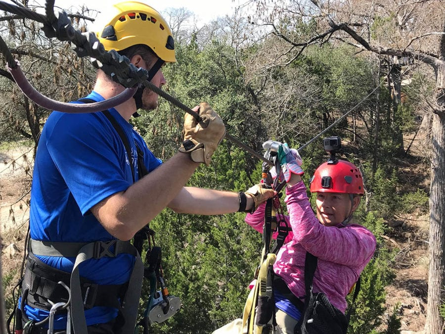 Bucket list worthy things to do in Texas - Cypress Valley Tours Zip Line