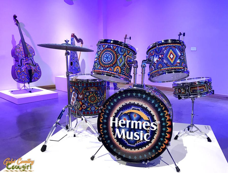 Wixarika drum set, Symphony of Color exhibit, Internation Museum of Art and Science, McAllen, Texas