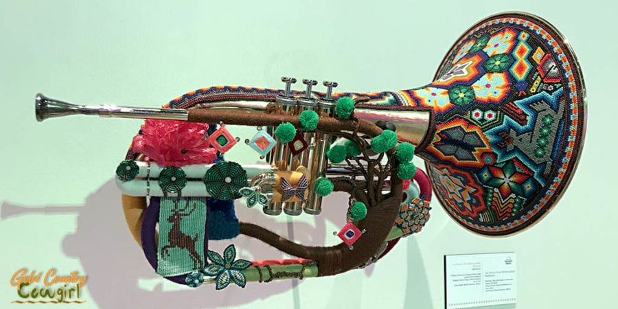 Warika trumpet - Symphony of Color exhibit, Internation Museum of Art and Science, McAllen, Texas