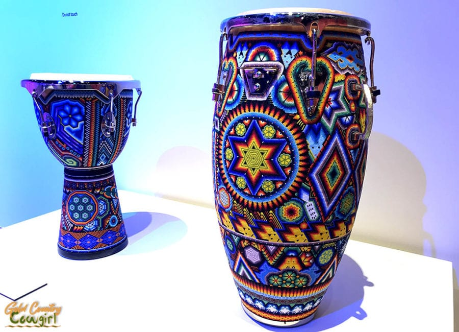 Wixarika drums - Symphony of Color exhibit, Internation Museum of Art and Science, McAllen, Texas