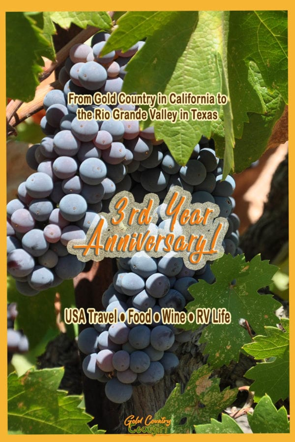 I'm celebrating the 3 year anniversary of the blog with a video walk down memory lane, a toast with California wine and a giveaway. Come on by!