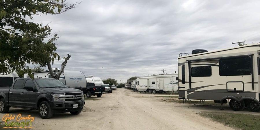 Road at Abilene RV Park