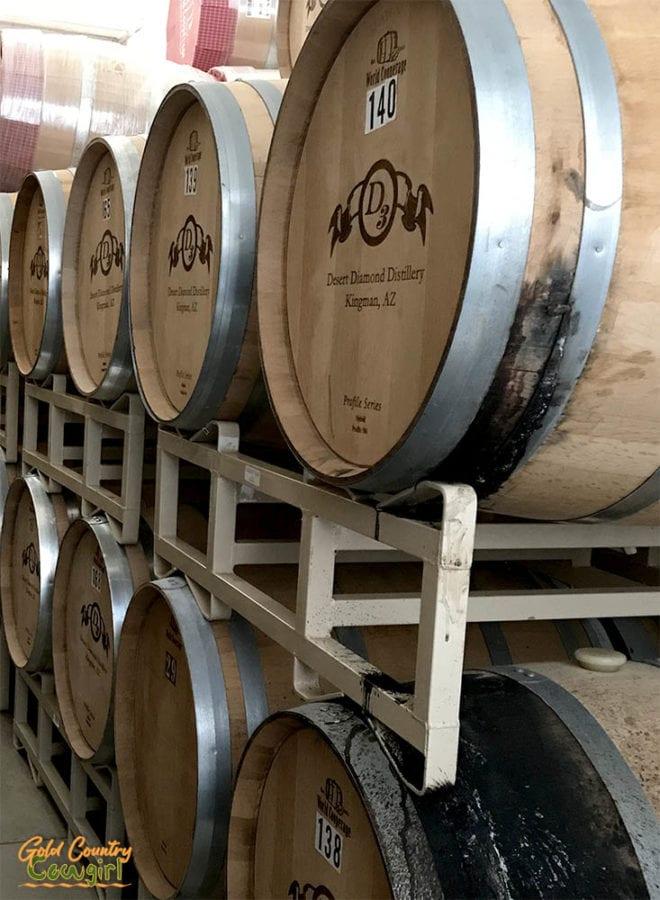 Aging Barrels at Desert Diamond Distillery