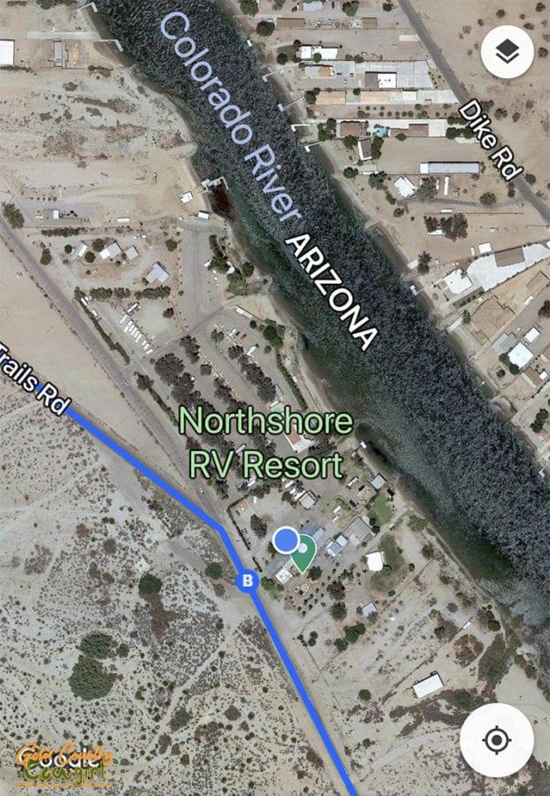 Fender's River Road Resort map