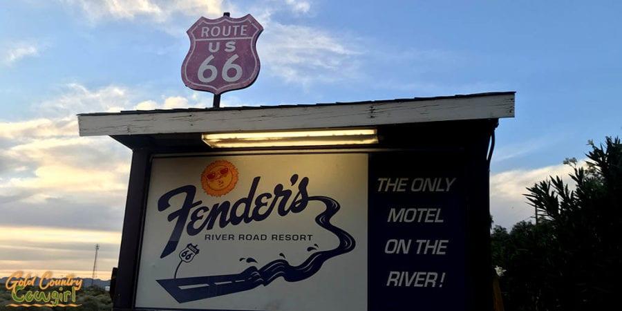 Fender's River Road Resort sign