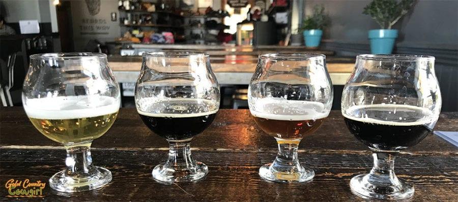 Historic Brewing Co beer flight