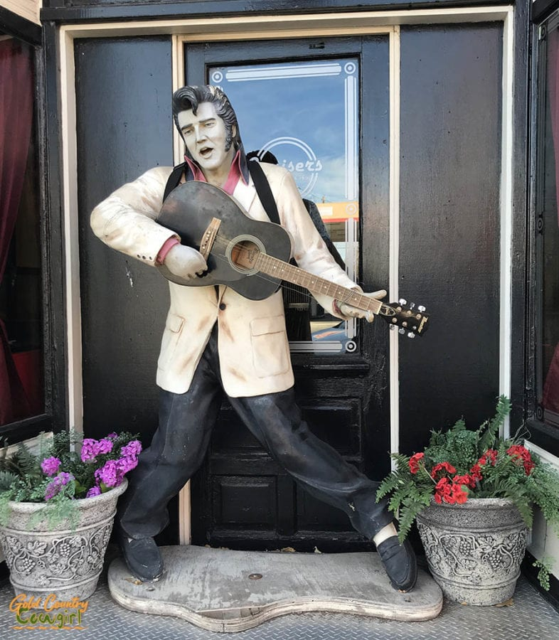 Williams AZ Elvis statue in front of store