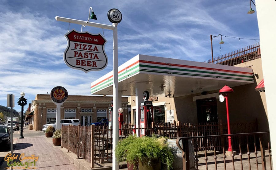 Williams AZ diner Station 66 exterior - a must add to a California to Texas itinerary for Route 66 buffs