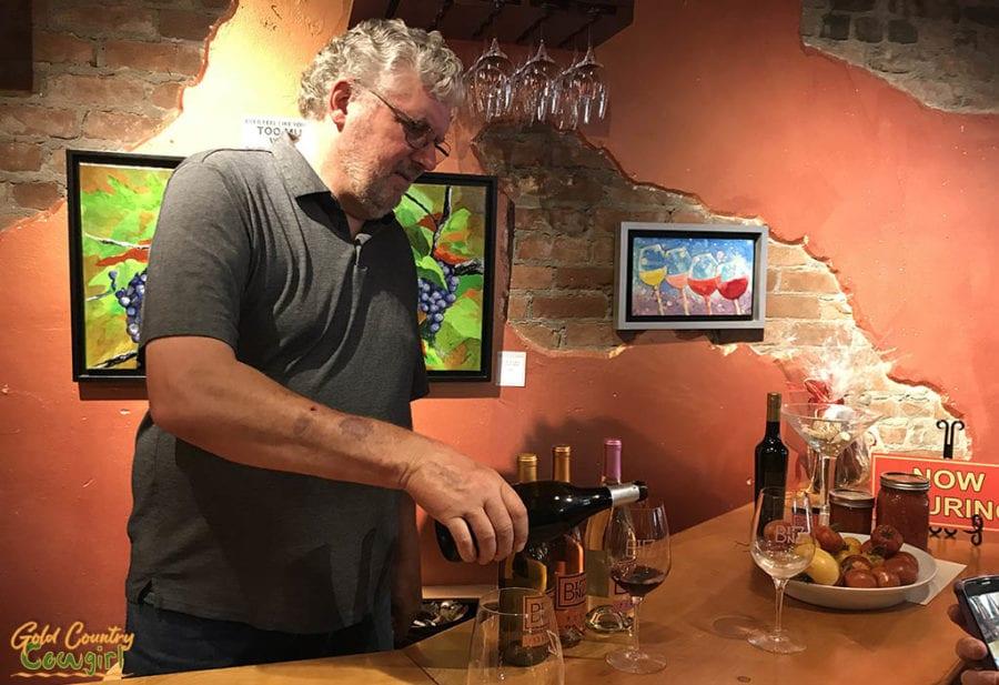 wine tasting at BINZ