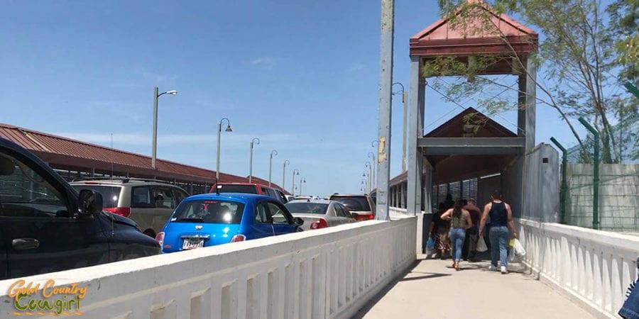 Entering US border crossing leaving Nuevo Progreso Mexico