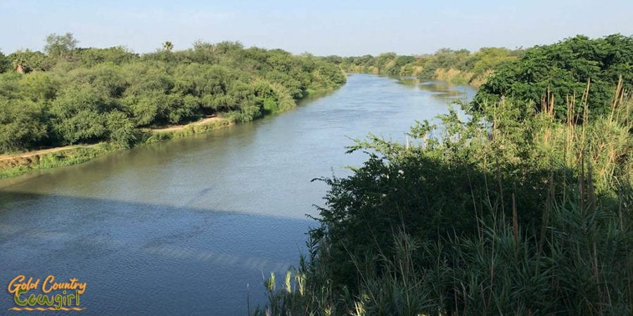 Rio Grande at Progreso Texas to Nuevo Progreso Mexico border crrossing