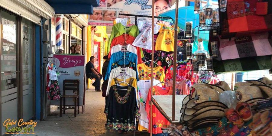 street vendor stalls in Nuevo Progreso Mexico
