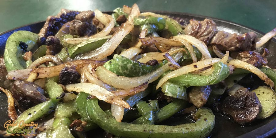 Las Vegas Cafe steak fajitas - a Tex Mex creation