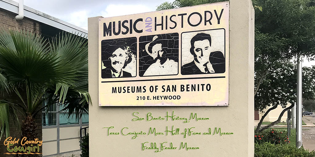 Sign at entrance to Museums of San Benito