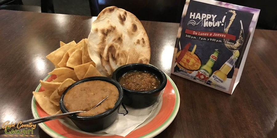 Palenque Grill chips and dips