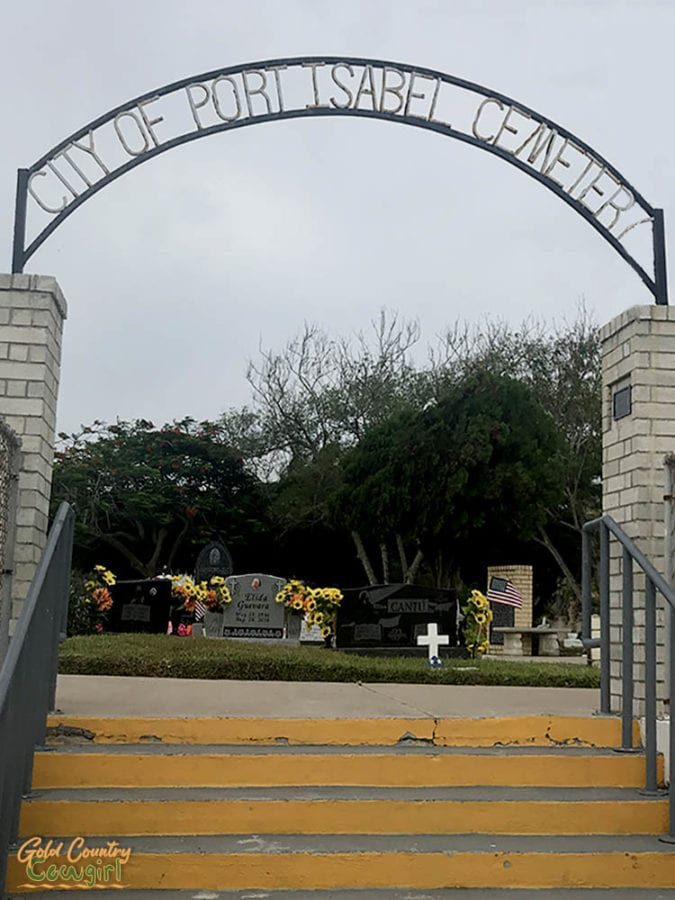 City of Port Isabel Cemetery sign at entrance