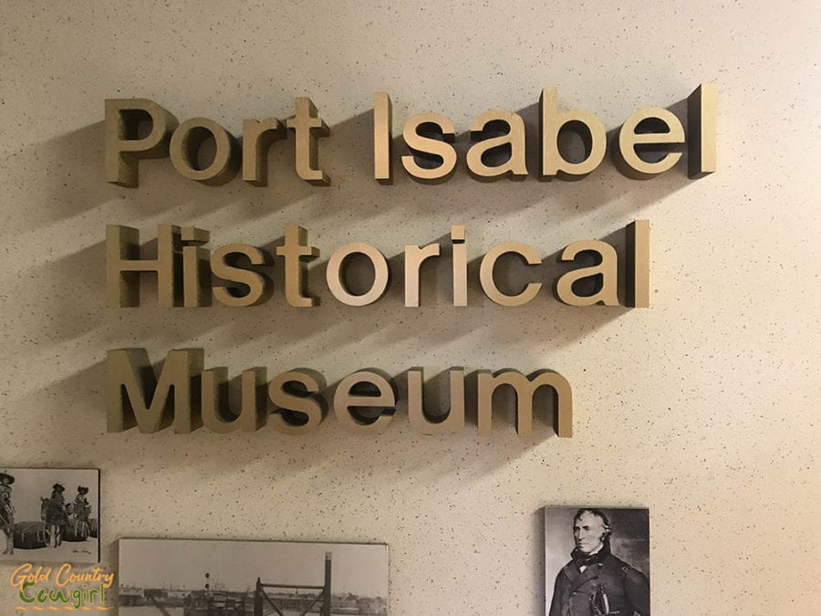 Port Isabel Historical Museum interior sign
