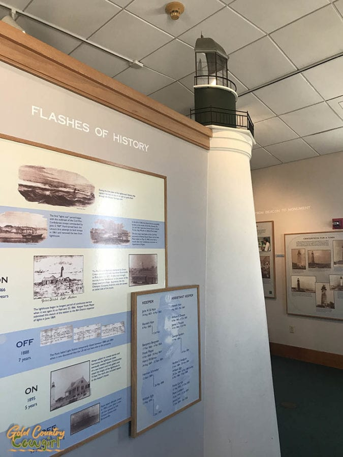 Port Isabel Lighthouse exhibit in Keepers Cottage