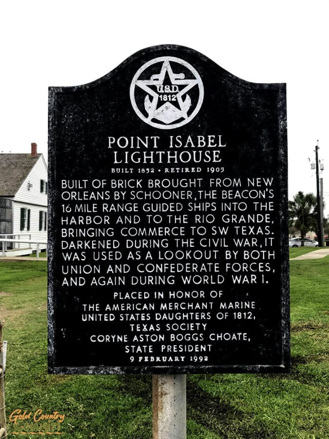 Port Isabel Lighthouse sign