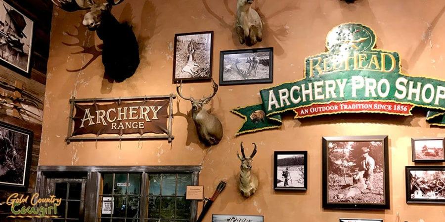 archery pro shop and entrance to archery range