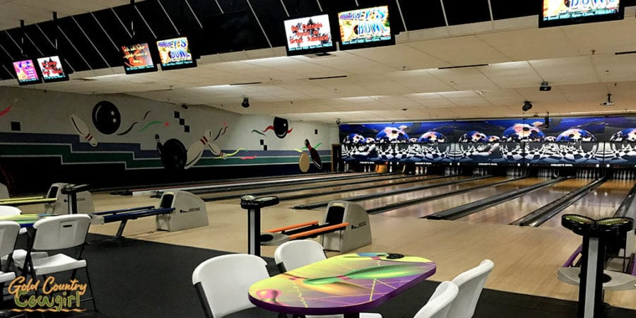 several lanes in Creasey's Bowl - bowling is one of the fun indoor activities in Harlingen