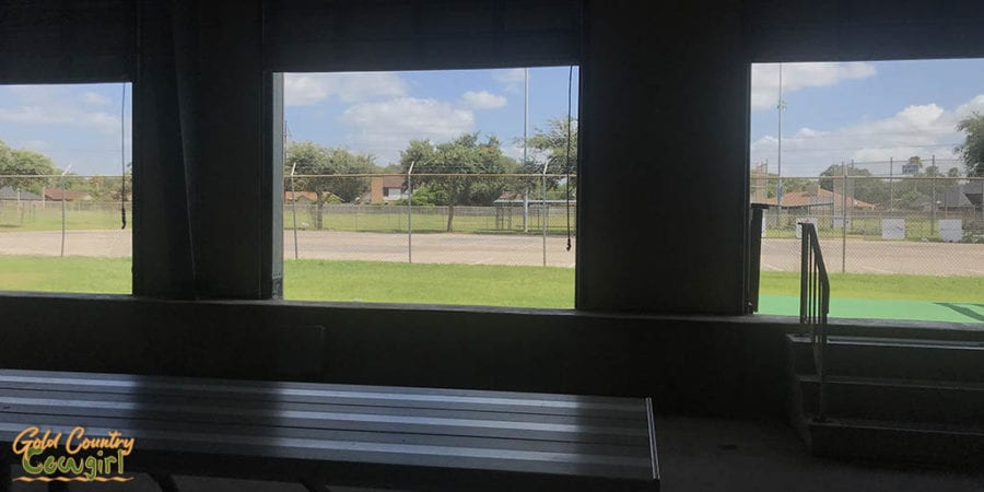 view of tennis courts from Pendleton Pool