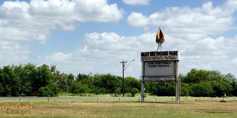 old Valley Greyhound Park marquee