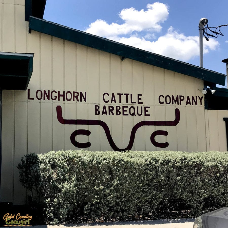 Longhorn Cattle Company sign