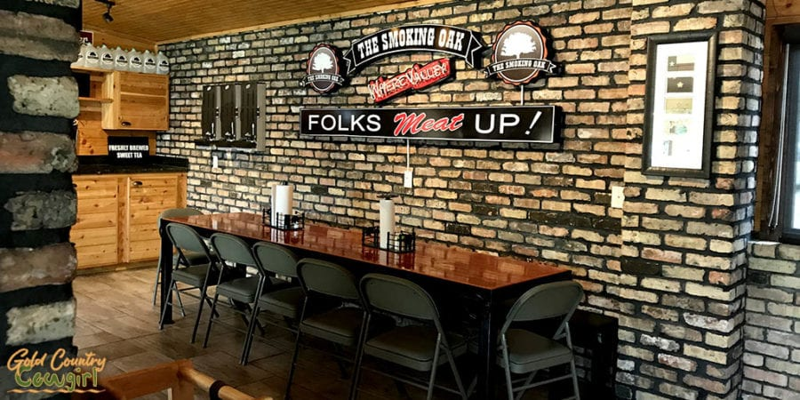 section of dining area at The Smoking Oak