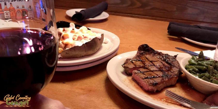 Texas Roadhouse ribeye steak dinner - best place to eat steak in Harlingen