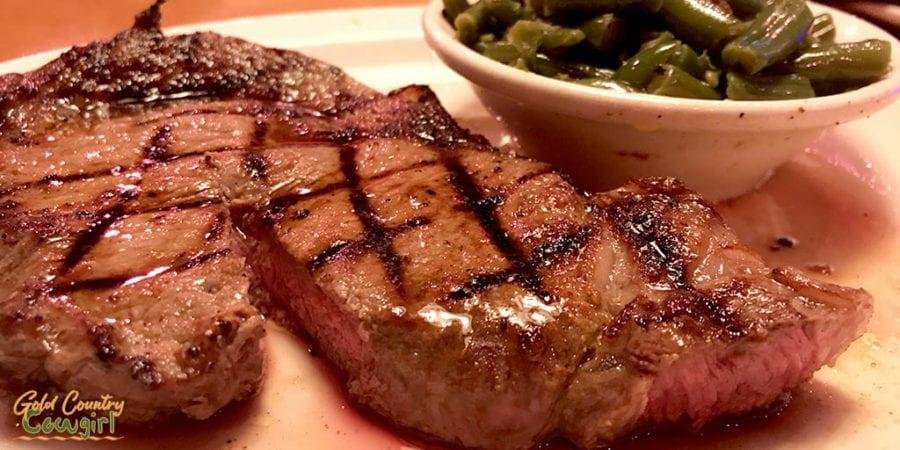 Texas Roadhouse ribeye steak - best place to eat steak in Harlingen, TX