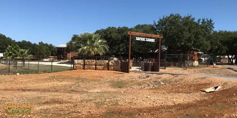 Entrance to Safari Cabins at Exotic Resort Zoo